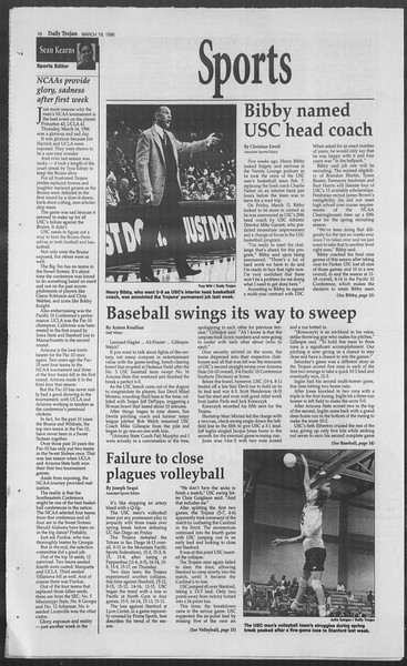 Daily Trojan, Vol. 127, No. 39, March 19, 1996
