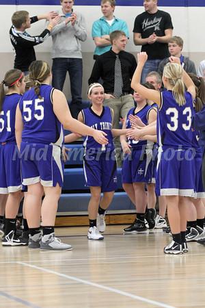 Girls Basketball, Holy Trinity vs Danville 1/18/2013