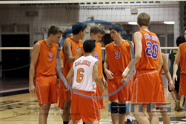 Kalaheo Boys Volleyball -Lei 4-15-14