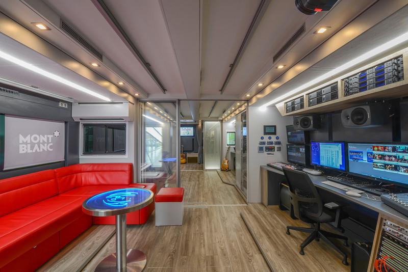 Lennon Bus Europe Interior - Front Studio