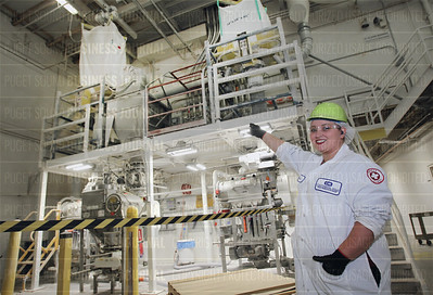 John Heily, chairman and CEO of Krusteaz manufacturer Continental Mills, is pictured in his company's headquarters in Tukwila, Wash.
