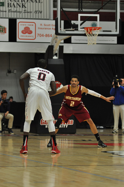 Donta Harper sets up to make a shot against Winthrop University Tuesday February 19, 2013.