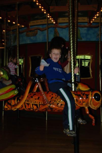 Jake on the Bug Carousel