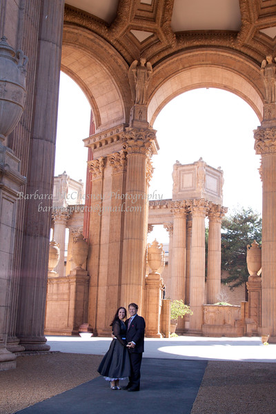 Palace of Fine Arts with Ed and Andie