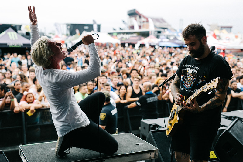 The Word Alive in Wantagh, NY on Vans Warped Tour 2016