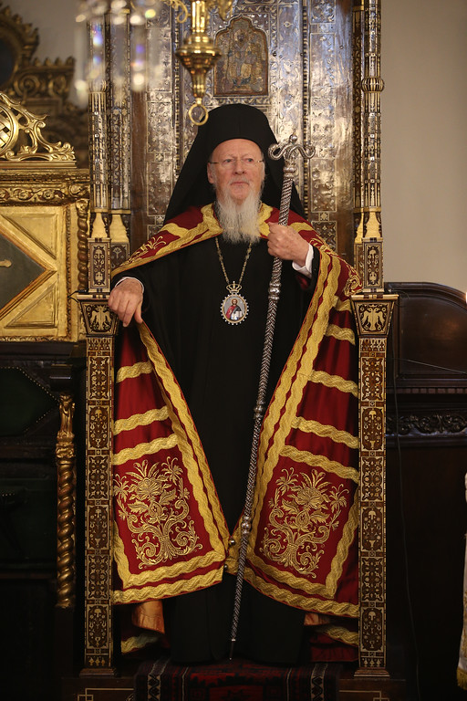 . Ecumenical Patriarch Bartholomew I, the spiritual leader of the world\'s Orthodox Christians leads the Epiphany mass at the Patriarchate in Istanbul, Friday, Jan. 6, 2017. (AP Photo/ Emrah Gurel)
