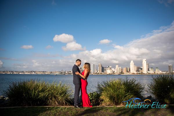 Kariza + Steven Engagement | Centennial Park Coronado Engagement | San Diego Wedding Photographer