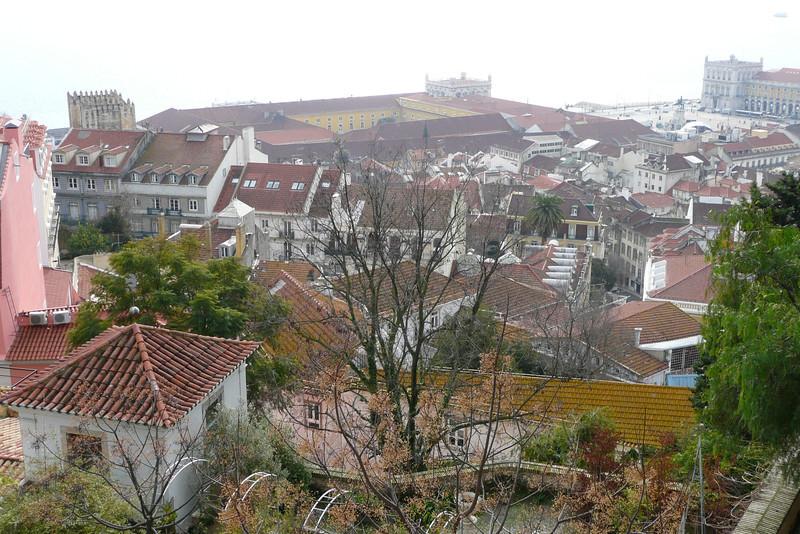 View of Baixa from Castelo de São Jorge. Alfama, Lisbon