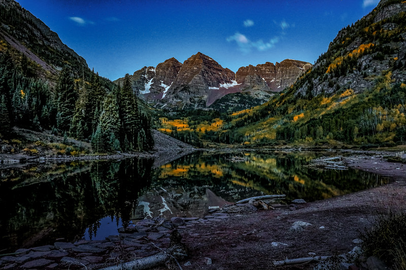 Maroon bells dawn