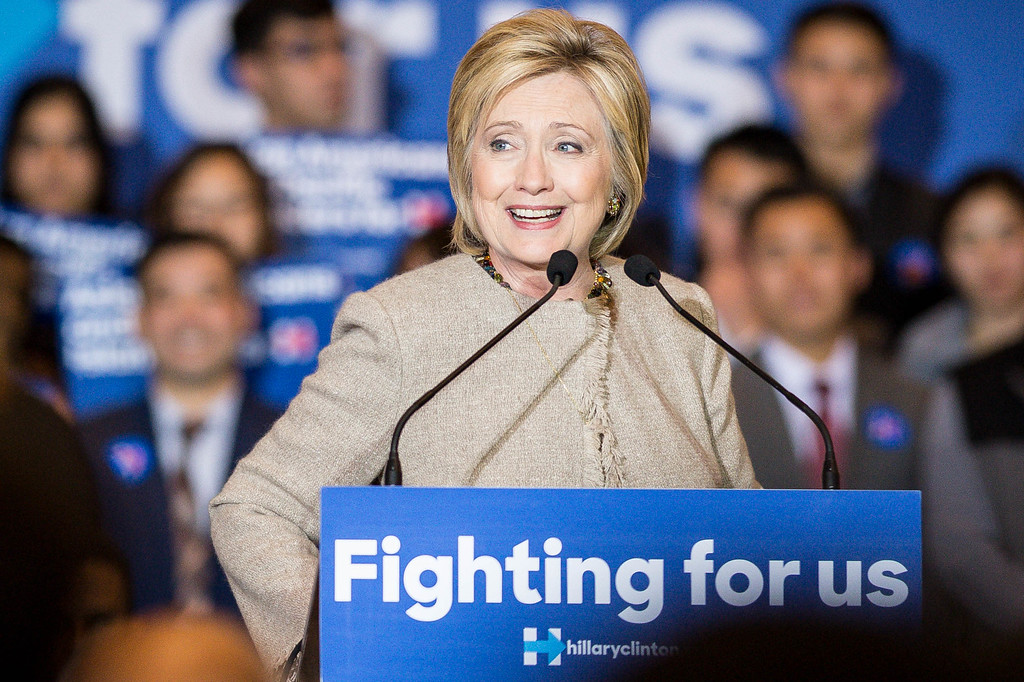 . Hillary Clinton launches Asian Americans and Pacific Islanders for Hillary at the San Gabriel Hilton on Thursday, January 7, 2016. (Photo by Sarah Reingewirtz/Pasadena Star-News)