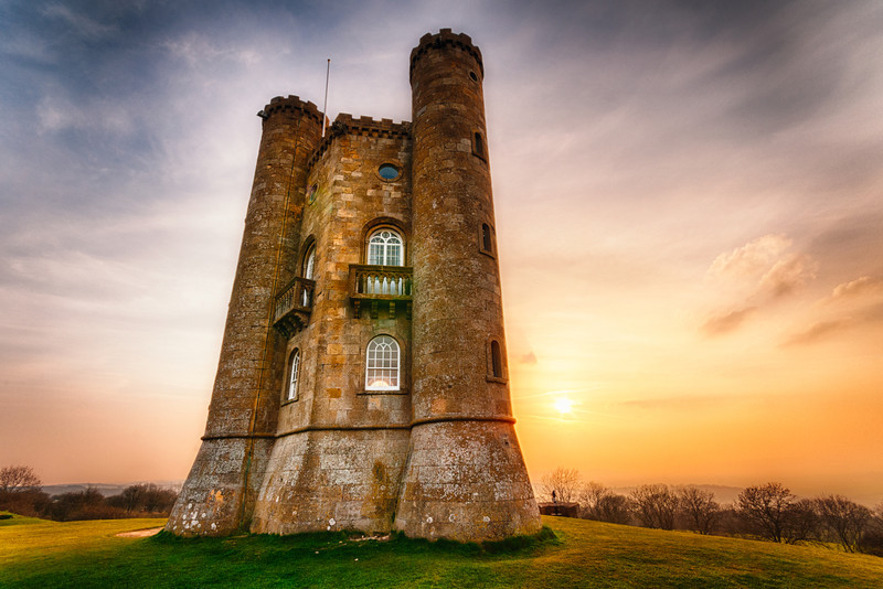Broadway Tower Sunset