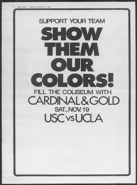 Daily Trojan, Vol. 94, No. 50, November 15, 1983