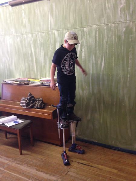 2013-10-26 Eamon Stilt Practice