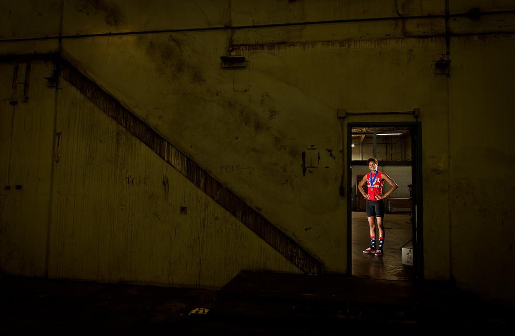 . A.B. Miller High School in Fontana high jumper Rachel McCoy, the San Bernardino Sun and Inland Valley Daily Bulletin\'s girls track athlete of the year, June 19, 2013. (Thomas R. Cordova/Staff Photographer)