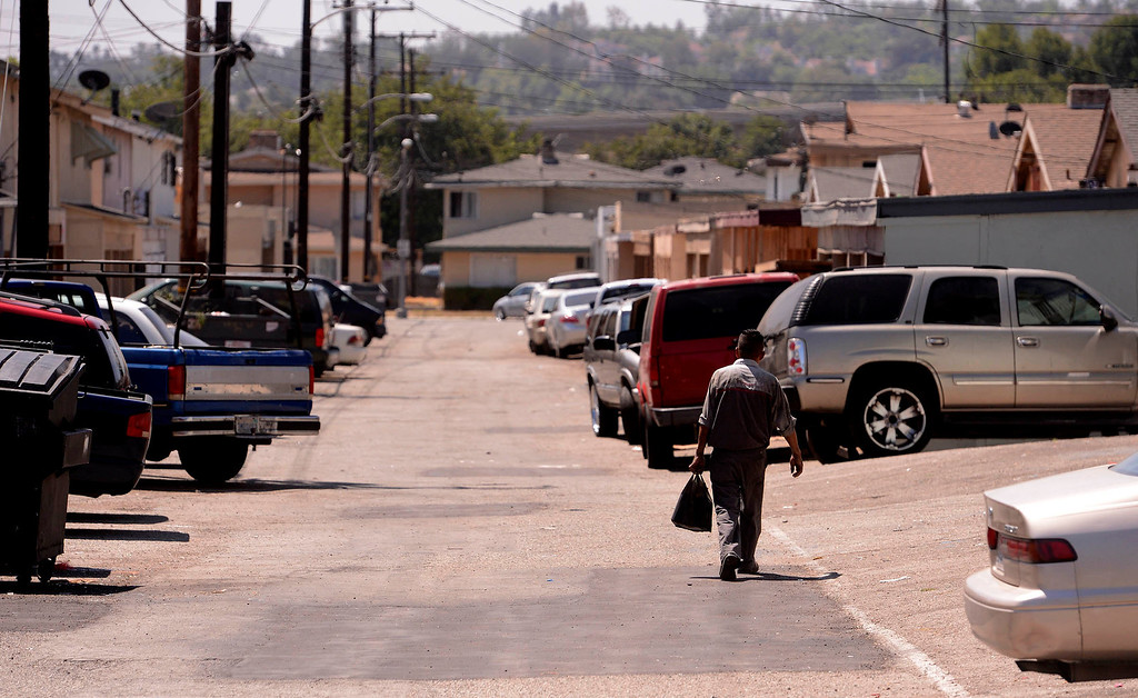 . A view of the surrounding area near the Orchid Lane Apartments which are located on the 300 block of Orchid Lane in Pomona August 11, 2013.   GABRIEL LUIS ACOSTA/STAFF PHOTOGRAPHER.