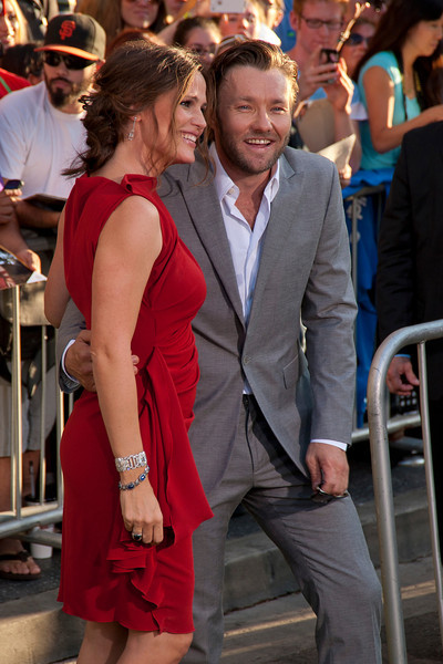HOLLYWOOD, CA - AUGUST 06: Actors Joel Edgerton and Jennifer Garner arrive at the 'The Odd Life Of Timothy Green' - Los Angeles Premiere at the El Capitan Theatre on Monday, August 6, 2012 in Hollywood, California. (Photo by Tom Sorensen/Moovieboy Pictures)