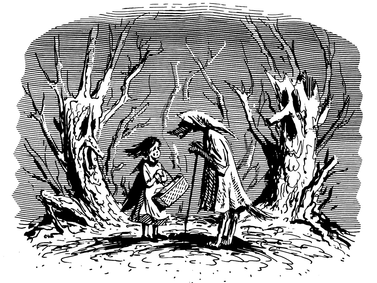 Fairytale scene; another Bookends drawing, c. 1983