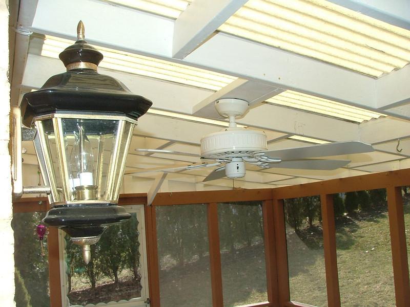 back porch ceiling/fan
