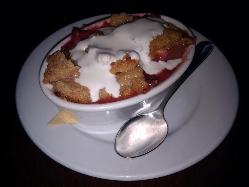 Zazie - Strawberry Rhubarb Crisp