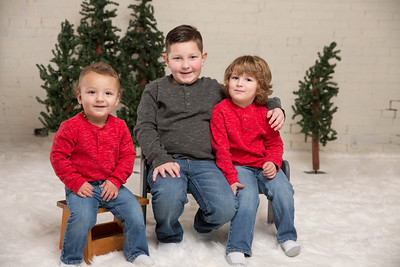 Christmas- James Siblings- Studio Winter Wonderland Holiday Christmas Portrait Session Baby Brothers Cousins Mother Father Son High Key Happy Candid Posed Formal Goofy Rustic Brick Westfield Ma Western Mass New England Photo Studio Kimberly Hatch Photogra