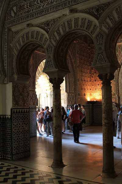 Alcazar - Horseshoe Arches within the Salon de Embajadores (Hall of the Ambassadors)