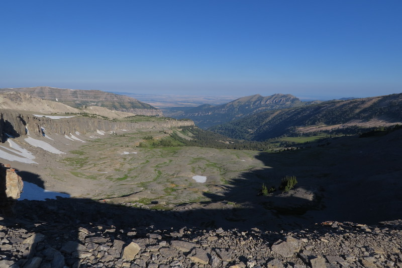 One last look to the west before descending into South Cascade Canyon