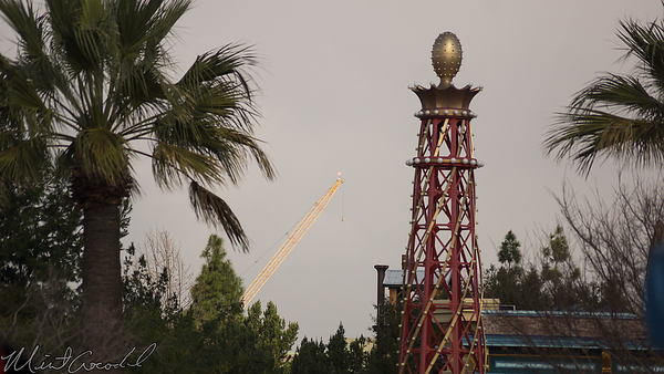 Disneyland Resort, Disney California Adventure, Paradise Pier, Paradise, Pier, Star Wars Land, Star Wars, Construction, Crane