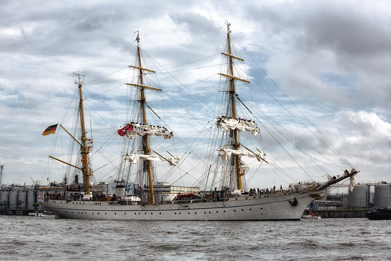 Segelschulschiff der deutschen Marine GorchFock