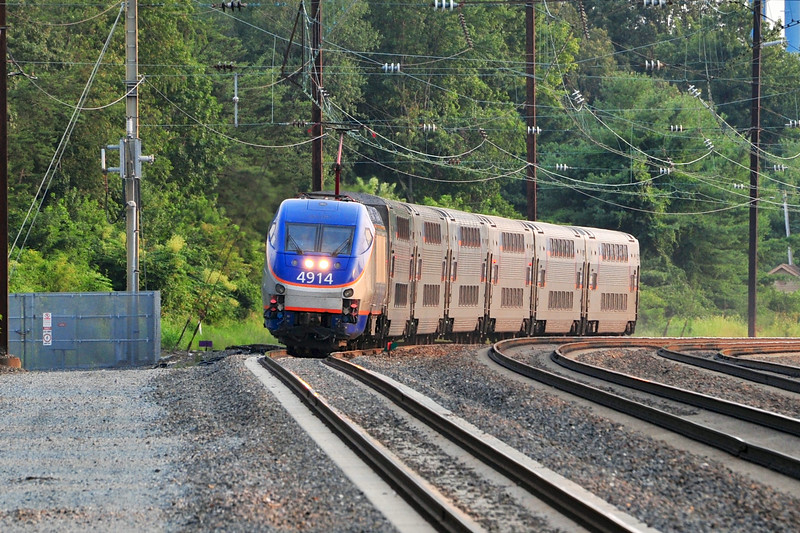 Bound for Perryville, MARC 544 approaches Odenton