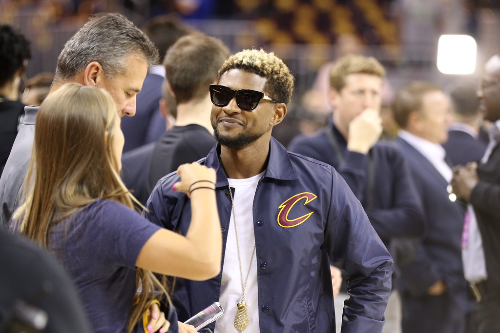 . Tim Phillis - The News-Herald Usher before Game 3 of the NBA Finals between the Cavaliers and Warriors on June 7 in Cleveland.