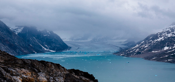 Day 4 - over the pass to the large Sermiligaq fjord and our five-glacier campsite