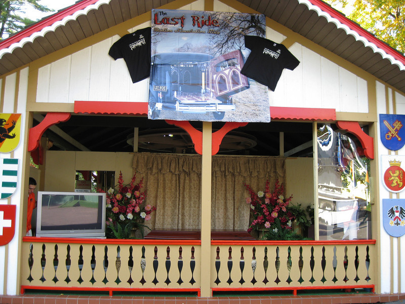 The Sky Ride station building held The Last Ride upcharge coffin simulator.
