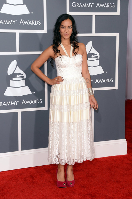 . Musician Anoushka Shankar arrives at the 55th Annual GRAMMY Awards at Staples Center on February 10, 2013 in Los Angeles, California.  (Photo by Jason Merritt/Getty Images)