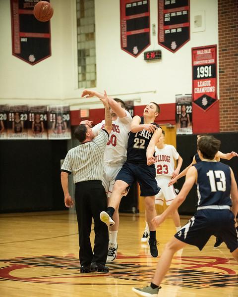 2020 Varsity Boys Basketball:  Hall-Dale vs Traip