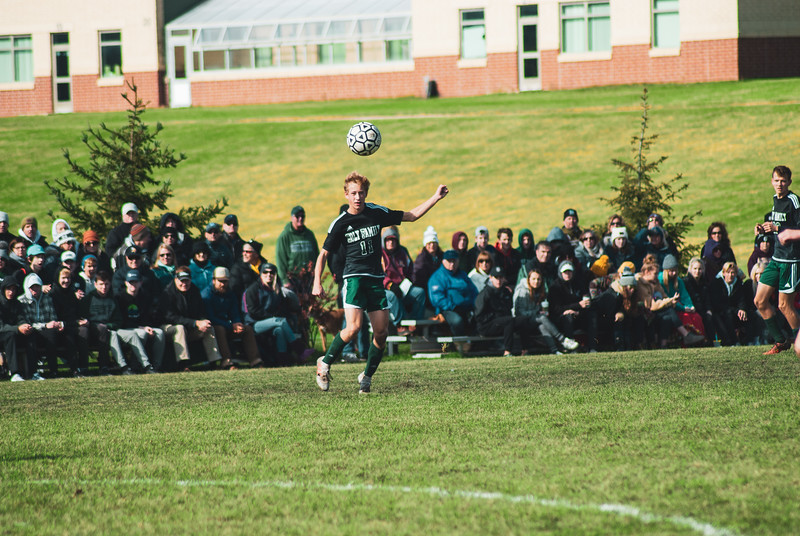 Holy Family Varsity Soccer vs. Mound Westonka Oct 13, 2018: Bishop Schugel '21 (11)