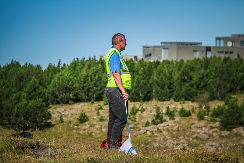 Sjálfboðaliði.  Íslandsmót golf 2019 Grafarholt - 1. keppnisdagur. Mynd: seth@golf.is