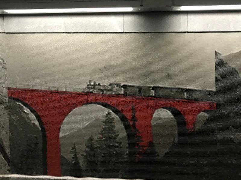 Mosaic in St. Moritz train station