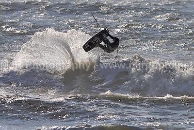 Kite Boarding, Gilgo Beach, NY, (2-2-08)