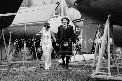 Gemma + Brian // A beautiful coastal wedding at Portavadie Marina in Loch Fyne, Argyll