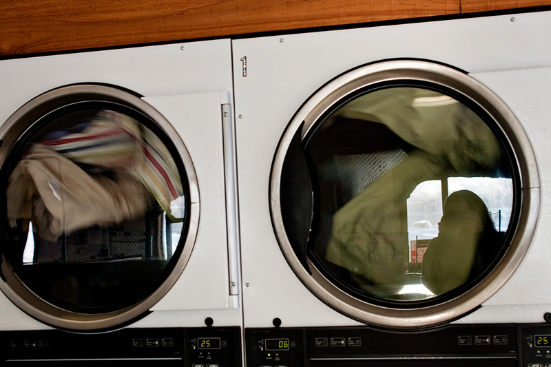 February 4, 2012. Day 29. Oh, how thankful I am that my laundry (and photo) is done! In Wasilla Wash Day, Wasilla, Alaska