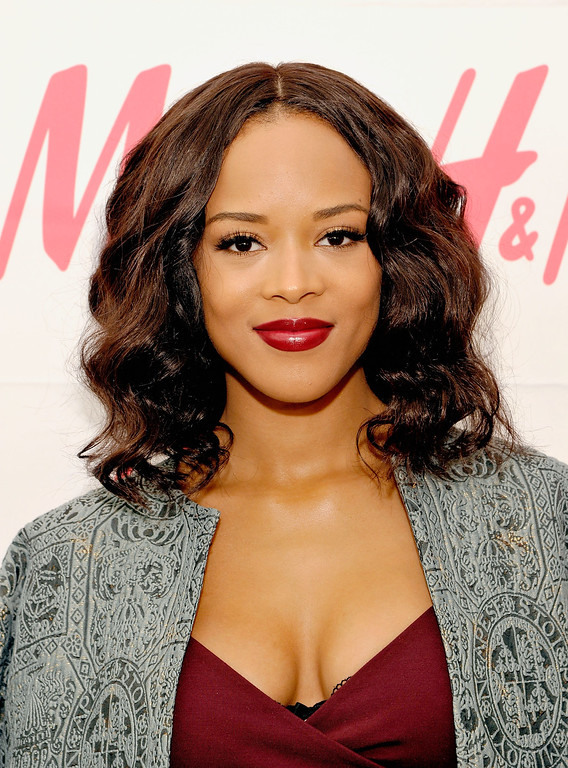 . Actress Serayah McNeill helps H&M celebrate 2016 Place Of Possible launch at H&M Sunset Strip on May 12, 2016 in West Hollywood, California.  (Photo by John Sciulli/Getty Images for H&M)