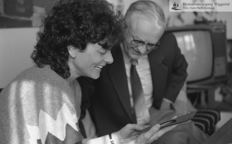 Josef Zihlmann 75 jährig dazu: Alois Häfliger/Rita