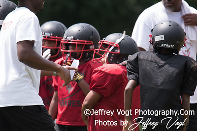 08-12-2017 North Potomac Braves Jr Pee Wee vs Silver Spring Saints Scrimmage at Cloverly Elementary School, Photos by Jeffrey Vogt Photography