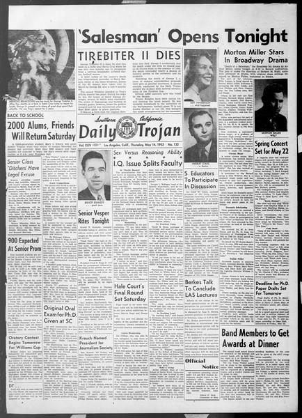 Daily Trojan, Vol. 44, No. 132, May 14, 1953