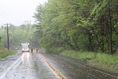 Trees, Poles Down, East Broad Street, Tamaqua (5-23-2011)