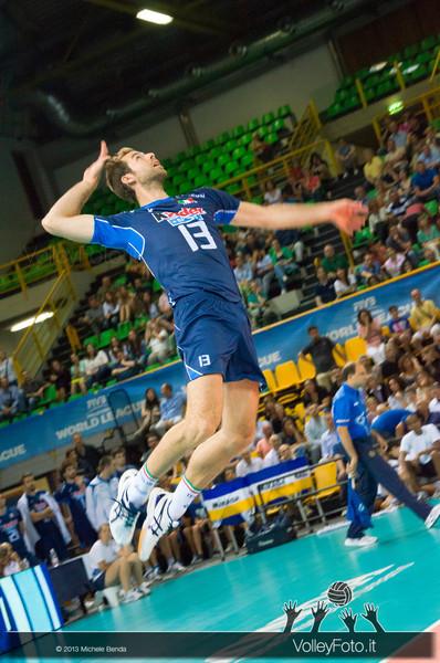 Dragan Travica [ITA] battuta - Italia-Iran, World League 2013 - Modena