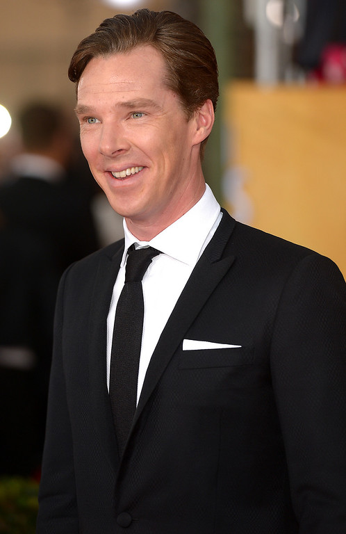 . Benedict Cumberbatch arrives at the 20th Annual Screen Actors Guild Awards  at the Shrine Auditorium in Los Angeles, California on Saturday January 18, 2014 (Photo by Michael Owen Baker / Los Angeles Daily News)