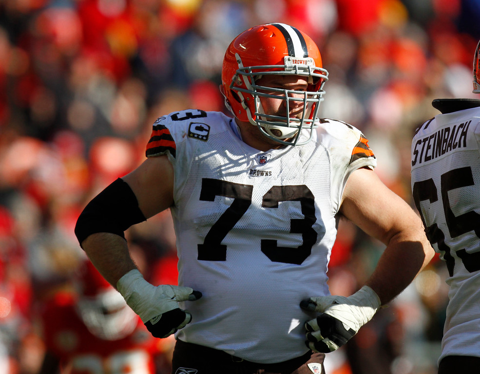 . Cleveland Browns offensive tackle Joe Thomas (73) during the first half of an NFL football game against the Kansas City Chiefs Sunday, Dec. 20, 2009, in Kansas City, Mo. (AP Photo/Ed Zurga)