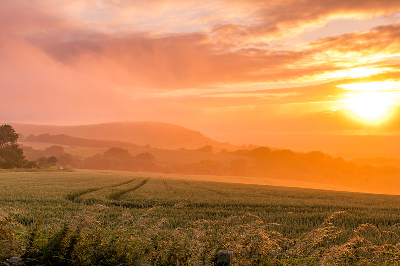 Sunset on the South Downs