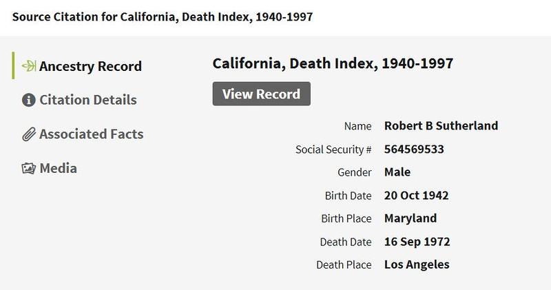1972 death Robert Bruce Sutherland Ca.JPG